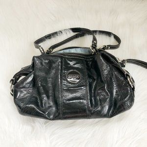 COACH Black Satchel Crossbody Bag